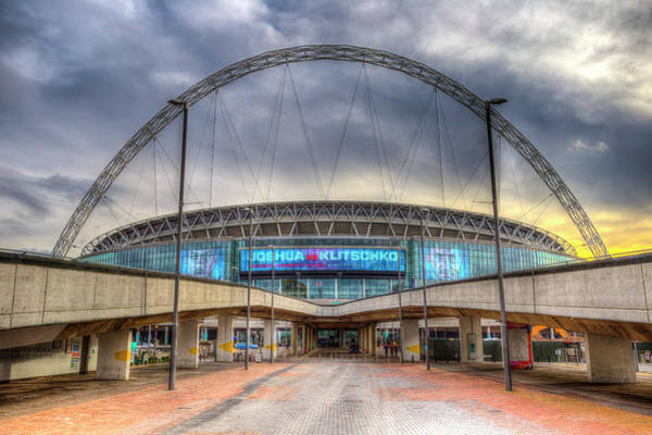 Wall Art - Photograph - Wembley Stadium London by David Pyatt