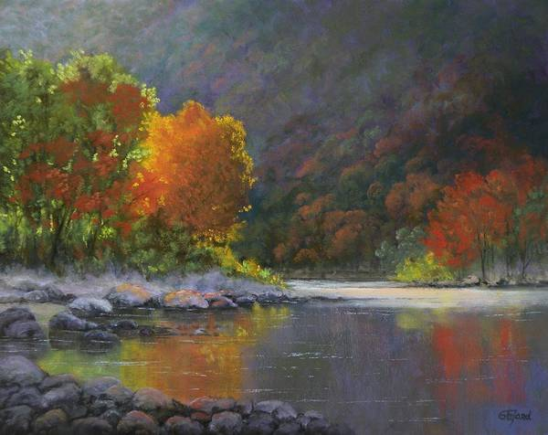 Wall Art - Painting - Wenatchee River by Paula Ann Ford