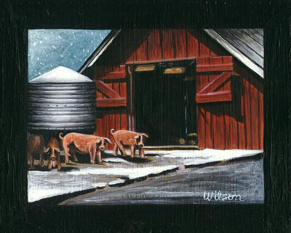 Wall Art - Painting - Wenger Barn by Carol Wilson