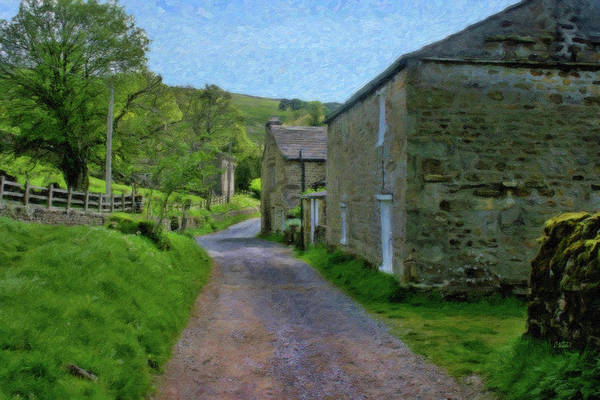 Fencepost Painting - Wensleydale - P4a160002 by Dean Wittle