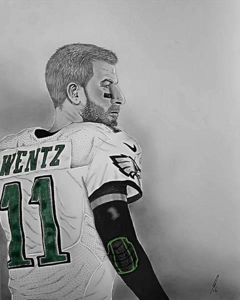 Super Bowl Drawing - Wentz by John Chattley