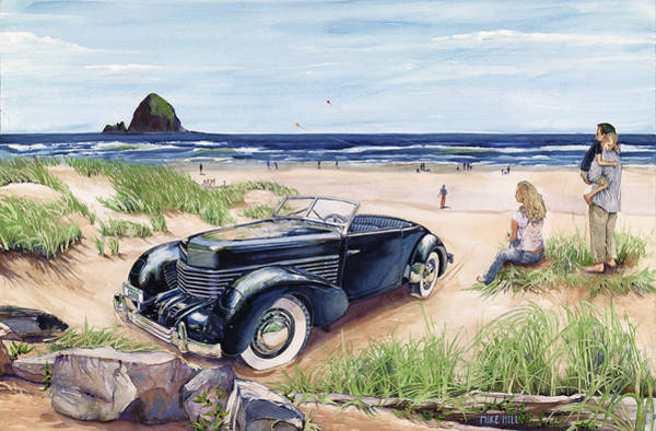Collector Car Painting - We're All In A Cord by Mike Hill