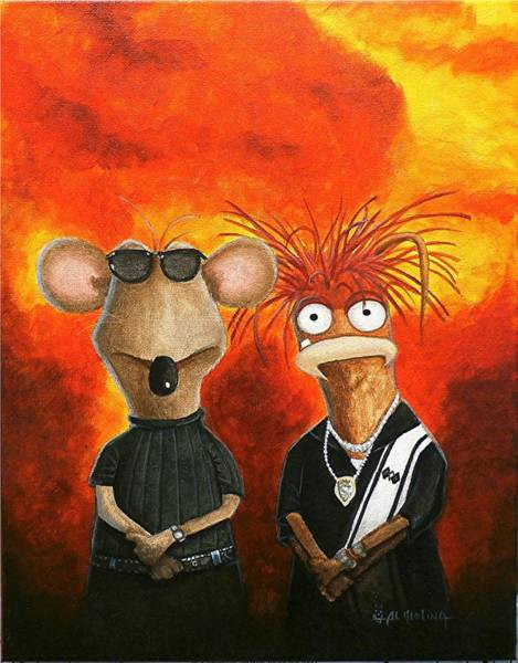 Wall Art - Painting - We're Bad Boys Okay by Al  Molina