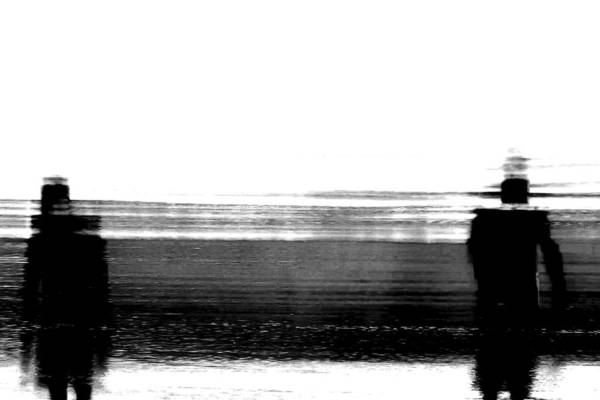 Black And White Abstract Photograph - We're Done by Az Jackson