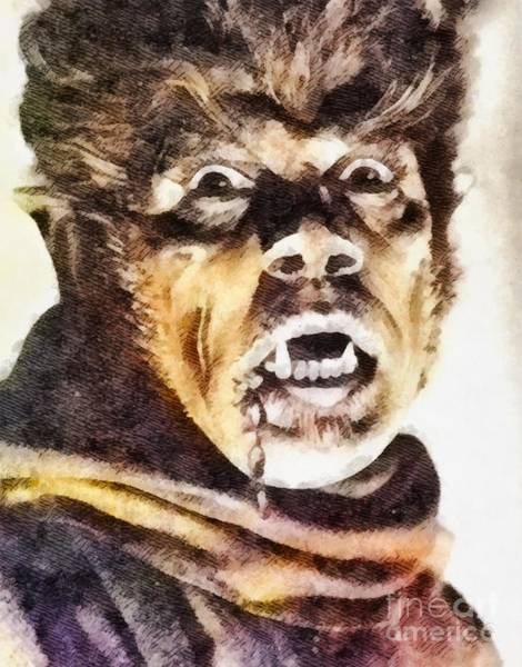 Dracula Painting - Werewolf Of London 1935, Vintage Horror by John Springfield