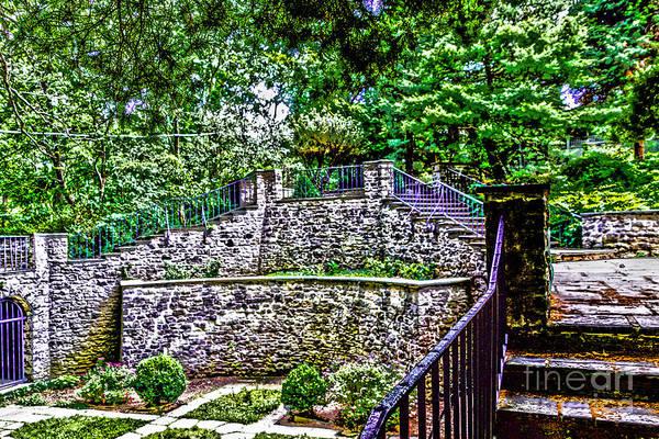 Photograph - Werner Castle Courtyard by William Norton