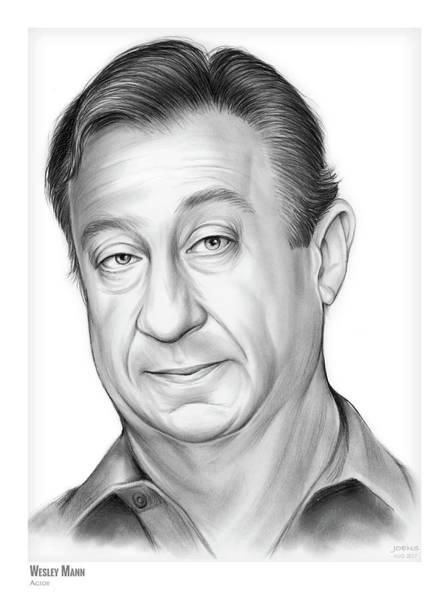 Back Drawing - Wesley Mann by Greg Joens