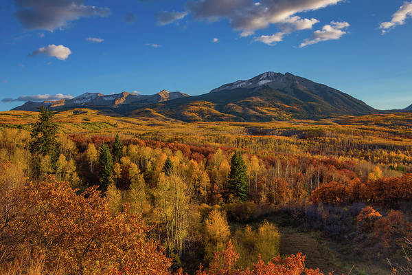 Wall Art - Photograph - West Beckwith Mountains Shine In The Warm Autumn Light by Bridget Calip