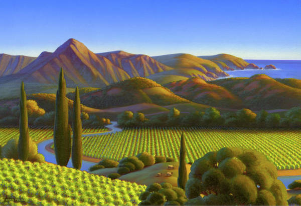 California Landscape Painting - West Coast Dreaming by Robin Moline