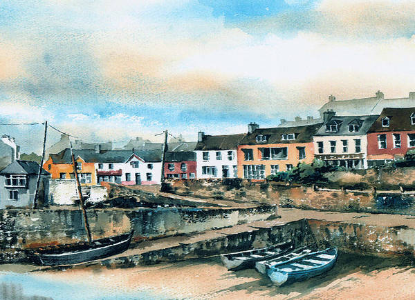 Painting - West Cork Baltimore Harbour by Val Byrne