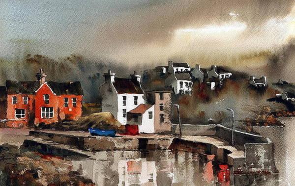 Painting - West Cork Glandore Dusk by Val Byrne