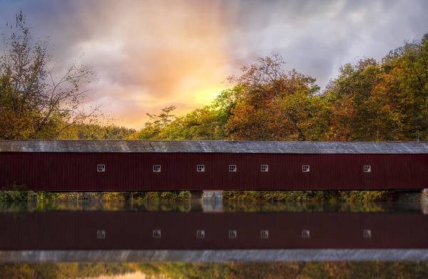 Photograph - West Cornwall Covered Bridge by Susan Candelario