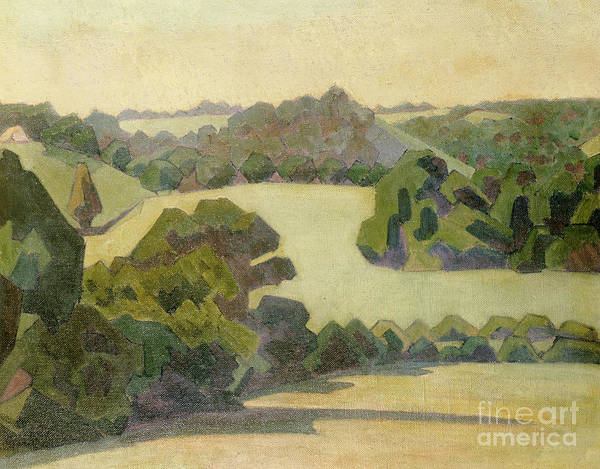 Wall Art - Painting - West Country Landscape by Robert Polhill Bevan