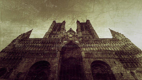 Photograph - West Facade Of Lincoln Cathedral Fine Art C by Jacek Wojnarowski
