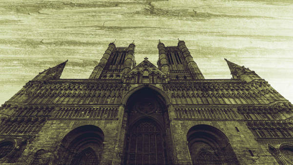 Photograph - West Facade Of Lincoln Cathedral Fine Art D by Jacek Wojnarowski