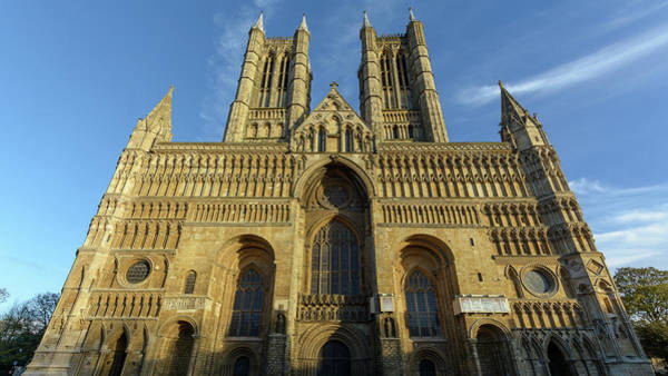 Photograph - West Facade Of Lincoln Cathedral by Jacek Wojnarowski
