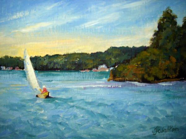 Painting - West Gibralter Sail by Judy Fischer Walton