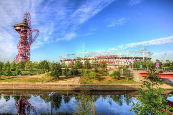 Olympic Club Photograph - West Ham Olympic Stadium And The Arcelormittal Orbit  by David Pyatt