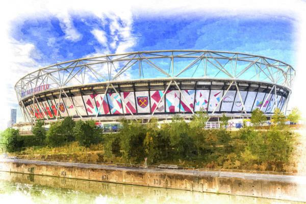 Olympic Club Photograph - West Ham Olympic Stadium London Art by David Pyatt