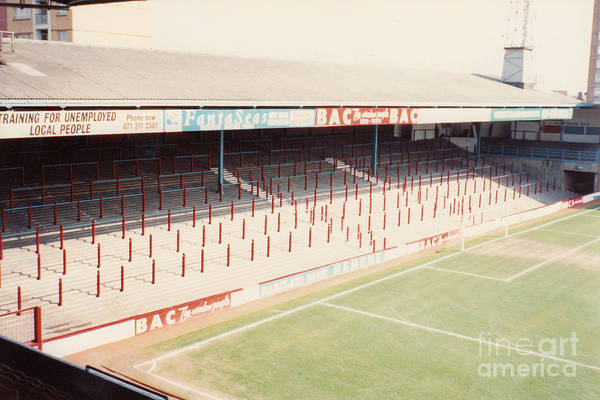 Wall Art - Photograph - West Ham - Upton Park - North Stand 1 - April 1991 by Legendary Football Grounds