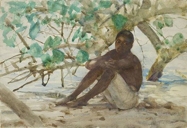 Painting - West Indian Boy  by Henry Scott Tuke