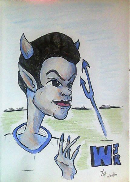 Drawing - West Jr by Loretta Nash