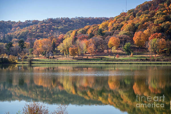 Photograph - West Lake Winona With Woodlawn 2x3 by Kari Yearous