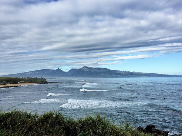 Photograph - West Maui Mountains From Hookipa Beach by Frank DiMarco