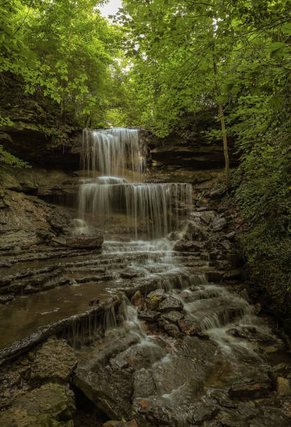 Photograph - West Milton Cascades Ohio by Dan Sproul