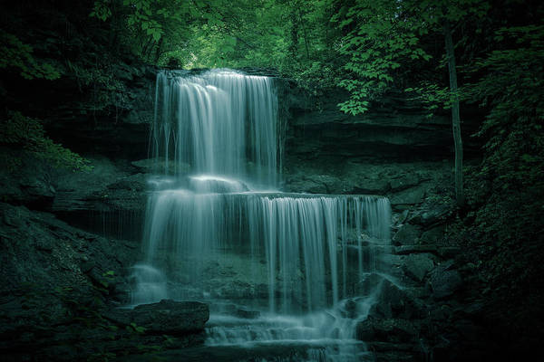 Photograph - West Milton Ohio Waterfall by Dan Sproul