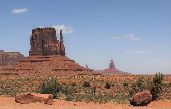 Photograph - West Mitten Butte Monument Valley by Christopher Kirby