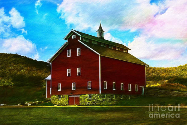 Painting - West Monitor Barn Vermont by Deborah Benoit