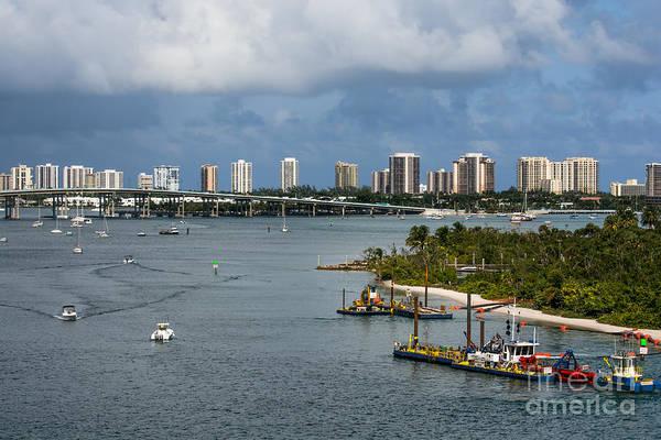 Flagler Photograph - West Palm Beach Skyline by Zina Stromberg