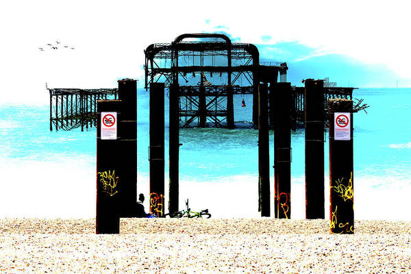Photograph - West Pier Graphic by Chris Lord