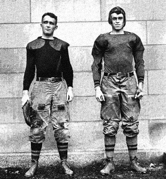 West Point Painting - West Point Football Players Charles Love Mullins Jr. And Joseph Pescia Sullivan, 1913.  by Celestial Images