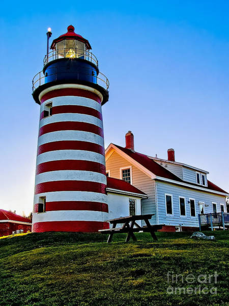 Photograph - West Quoddy Head Light by Nick Zelinsky