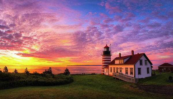 Photograph - West Quoddy Head Light by Robert Clifford