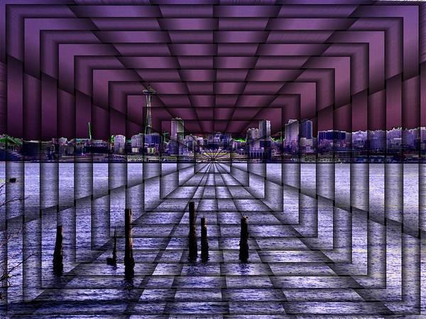 Elliott Digital Art - West Seattle Vortex by Tim Allen