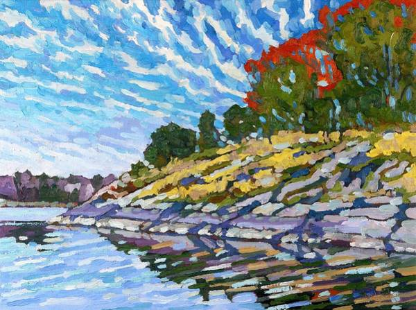 Canoeist Wall Art - Painting - West Shore by Phil Chadwick