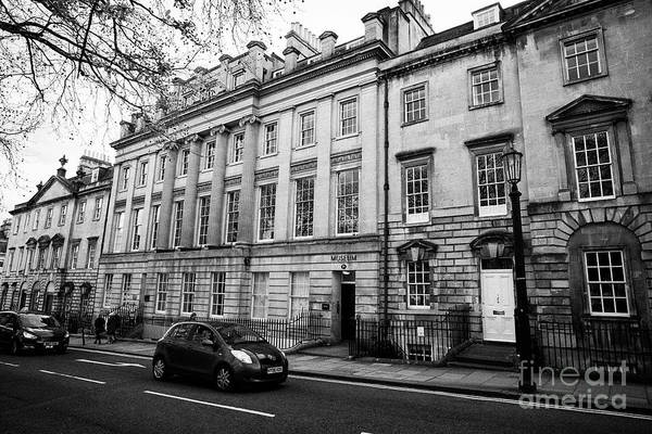 Queens Bath Photograph - west side of queens square Bath home to the bath royal literary and scientific institution and museu by Joe Fox