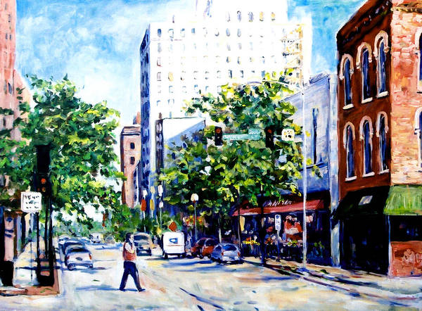 Painting - West State And Wyman Streets by Ingrid Dohm