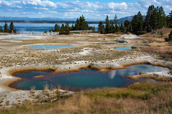Photograph - West Thumb Geyser Basin, Yellowstone by Aidan Moran