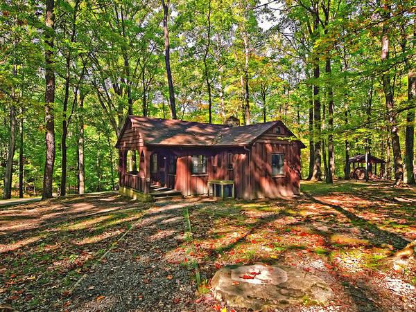 Civilian Conservation Corps Photograph - West Virginia Cabin by Steve Harrington