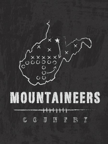 Mountaineer Digital Art - West Virginia Mountaineers Country by Damon Gray