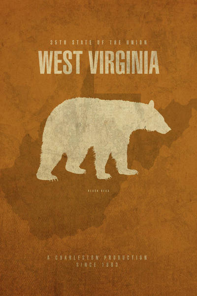Wall Art - Mixed Media - West Virginia State Facts Minimalist Movie Poster Art by Design Turnpike