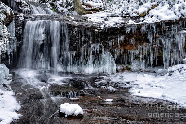 Photograph - West Virginia Winter Waterfall by Thomas R Fletcher