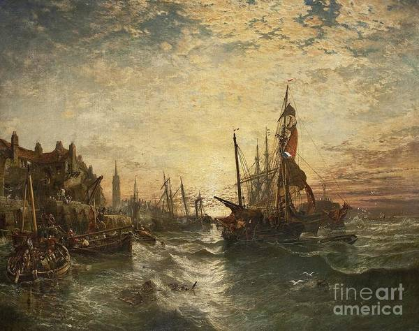 Fife Painting - West Wemyss Harbour  by MotionAge Designs