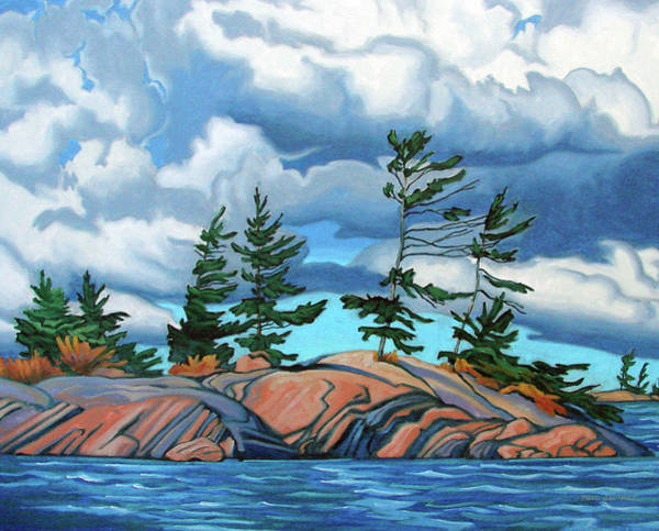 Wall Art - Painting - West Wind Georgian Bay by Paul Gauthier