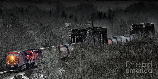 Photograph - Westbound Grain II by Brad Allen Fine Art