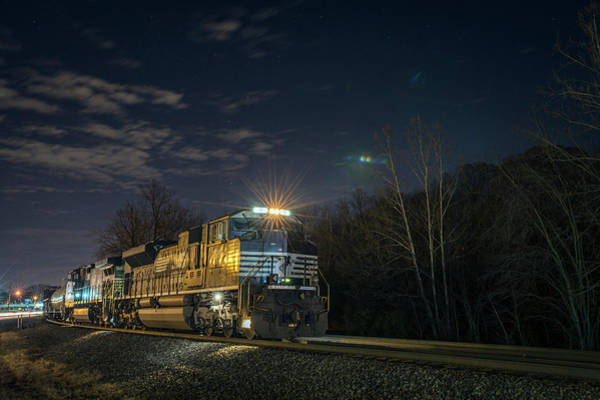 Norfolk Southern Railway Wall Art - Photograph - Westbound Norfolk Southern 375 At Georgetown In by Jim Pearson